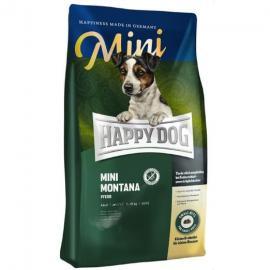 HAPPY DOG SUPREME MINI Montana Pferd teljes értékű gluténmentes eledel kistestű kutyáknak lóhússal és burgonyával