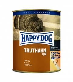 HAPPY DOG Truthahn Pur 100 % pulykahús konzerv, táplálék allergiás kutyáknak, 200 g, 400 g, 800 g