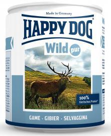 HAPPY DOG Wild Pur 100 % vadhús konzerv, táplálék allergiás kutyáknak, 200 g, 400 g, 800 g