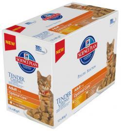 Hill's SP Feline Adult Poultry Multipack alutasakos konzerv felnőtt cicáknak csirkehúsos, pulykahúsos 12x85g, 6db Chicken, 6db Turkey