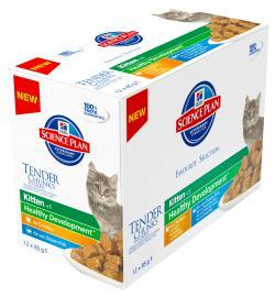 Hill's SP Feline Kitten Multipack alutasakos konzerv csirkehússal, tengeri hallal, 12x85 g, 6db Chicken, 6db Ocean Fish