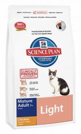 Hill's SP Feline Mature Adult 7+ Light Chicken száraz táp csirkehússal alacsony energiaigényű idős cicáknak