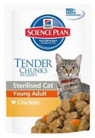 Hill's SP Feline Young Adult SterilizedCat Chicken  alutasakos konzerv felnőtt, ivartalanított cicáknak csirkehússal, 85g