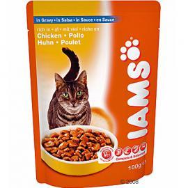 Iams Cat Adult Chicken Pouch tasakos konzerv csirkehússal felnőtt cicáknak 100 g