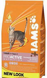 Iams Cat Adult R/I Salmon száraz táp lazaccal felnőtt cicáknak