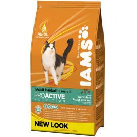 Iams Cat Hairball száraz táp szőrlabda-képződésre hajlamos felnőtt cicáknak