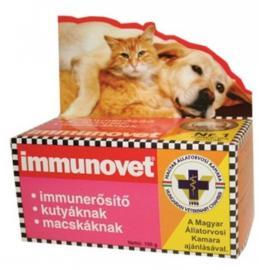 Immunovet immunerősítő táplálék kiegészítő por kutyák és macskák részére 100  g-os
