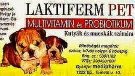 Laktiferm Pet probiotikum kutyák és macskák részére 100 g-os