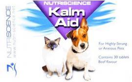 NutriScience KalmAid Dog stresszoldó tabletta ideges, szorongó macskák és kutyák számára, 30 db-os