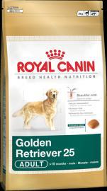 Royal Canin Breed Golden Retriever 25 Adult  - golden retrievereknek 15 hónapos kortól 3 kg-os, és 12 kg-os kiszerelésben