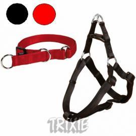 TRIXIE11351 Softline nylon hám kutyáknak , fekete színben, extra tartós vízlepergetős anyagból
