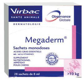 Virbac - Megaderm oldat szőrre és bőrre 10 kg feletti kutyák részére 28x8 ml
